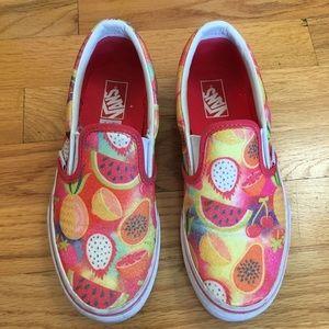 Girls, 3, Vans Slip On Sneakers in Glitter Fruits